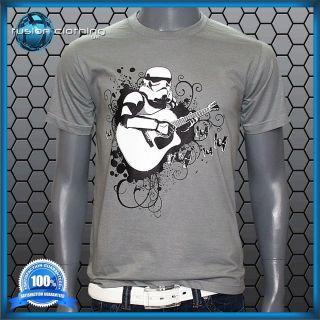 Size XL Banksy Star Wars Stormtrooper Bass Guitar Mens T Shirt Top Men