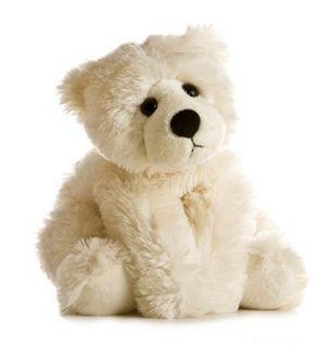 12 Aurora Plush Off White Teddy Bear Stuffed Animal Toy Brae Bear