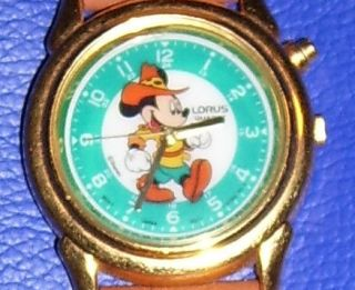 Collectible Vintage Disney Lorus Mickey Mouse Watch New Battery Works
