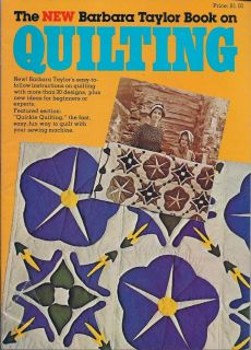 Quilting Magazine Barbara Taylor Book not Dated