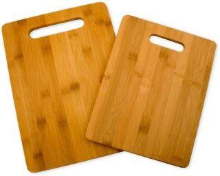 NEW Totally Bamboo 20 2038 Bamboo Cutting Board Set 2 Board Set