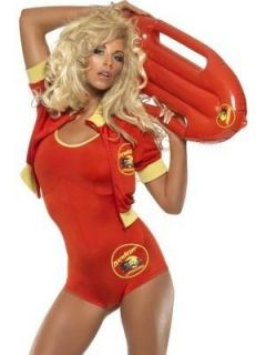 Licensed Pam Baywatch Fancy Dress Costume and Float Small 8 10 Medium