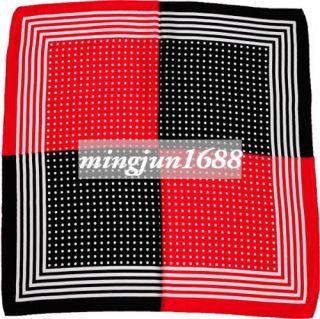 100 Silk Black Red Bandana Wrap Shawl Headband Scarves Silk Scarf