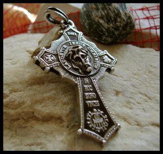 AJS © Masonic Mason Pendant Jesus Face Cross Knights Templar Unique