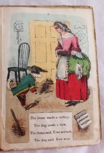 C1858 Dean Sons Moveable Mother Hubbard Early Pop Up Book Hand