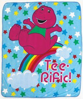 New Barney & Friends Plush Fleece Throw Boys Girls Kids Gift Blanket