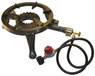 Pressure Outdoor Camping Propane Gas Burner BBQ Cast Iron Stove