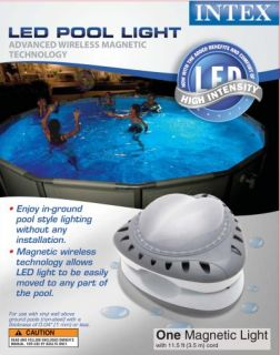 Intex Above Ground LED Magnetic Swimming Pool Lights