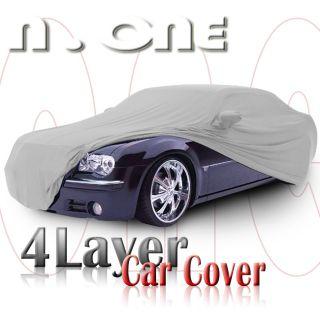 Nova 4 Layer Waterproof Car Cover Mirror Pocket 190x70x47 Inch