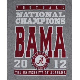 Alabama Crimson Tide Big Block 2012 BCS National Championship T Shirt