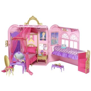 Barbie Princess Charm School Royal Bed Bath Play Set New in The Box