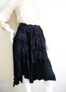 Avant Garde Comme Des Garcons Tao Asymmetrical Tiered Blk Skirt S