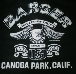 Davidson Shirt 3D Emblem USA Barger California Hog Biker Sz S