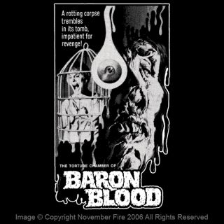 Baron Blood Shirt Mario Bava Joseph Cotten Zombie Death