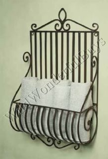 Tuscan Scroll Wrought Iron Wall Basket Planter French Country New