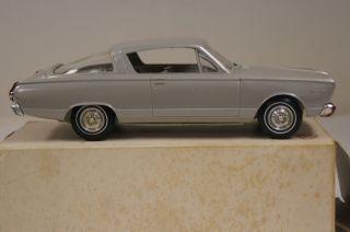 Vintage 1966 Plymouth Barracuda Silver Dealer Promo Model Car ! NR