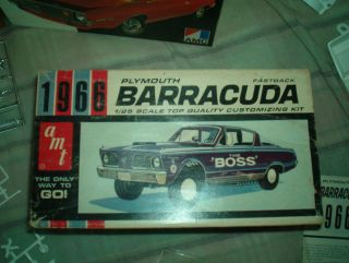 AMT 1966 Plymouth Barracuda fastback customizing kit unbuilt.