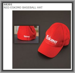 68201 Eskimo Ice Fishing Gear Ball Cap RED ESKIMO BASEBALL HAT