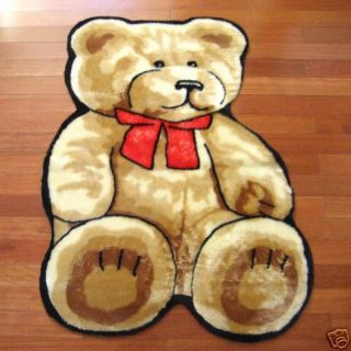 Faux Fur Teddy Bear Playmat Play Mat Rug 3x5 New