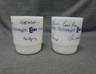 1969 Chicago Cubs Baseball Signed Mug White Glass C Handle Cup