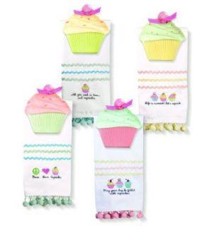 Cupcake Kitchen Bath Hand Towel Soap Dish Spoon Rest
