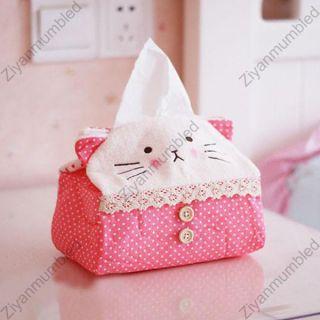 Panda Cloth Car Desk Bath Tissue Box Cover Holder Free Postage