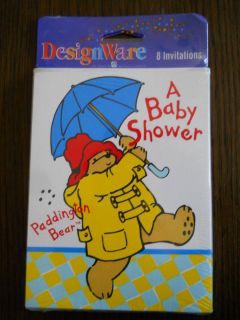 Greetings Paddington Bear Baby Shower Invitations 8 Cards Envelopes