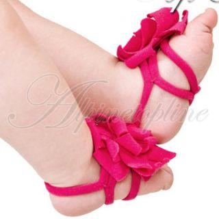 Lovely Baby Infant Toddler Boy Girls Pram Flower Belt Feet Shoes Posh