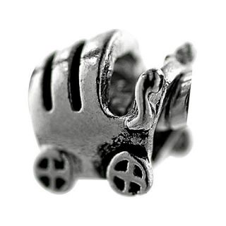 Pugster Baby Carriage Silver Tone European Charm Bead for Bracelet Z69
