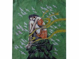 Chinese Art Handmade Wax Printing Batik Tapestry FLYING DREAMS