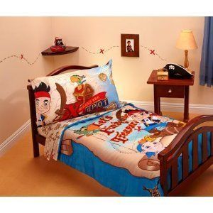 JAKE AND THE NEVERLAND PIRATES Toddler Bedding Comforter Sheet Set