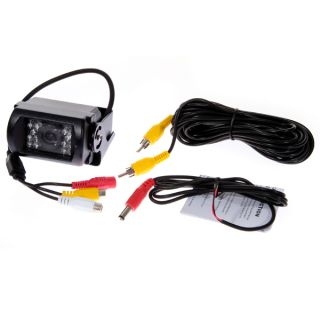 LCD Rear View Monitor DVD VCR NTSC Waterproof Car Backup Camera