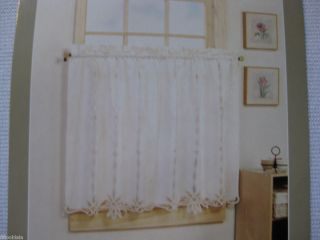 NEW Shabby Battenburg Lace WHITE Window Curtains Chic Tiers Tier Pair