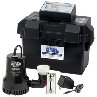 Basement Watchdog 1730 GPH Battery Backup Sump Pump System BWSP