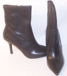 Nine West Womens Shoes Ankle Boots Bailey Black 10 5