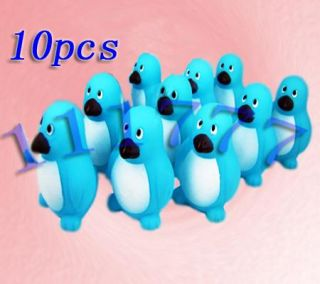 Job Lots of 10 Baby Bath Toys Rubber Penguins 6cm Blue