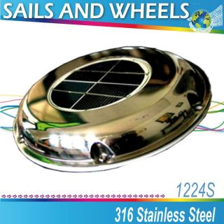 Sunvent Solar Powered Exhaust Fan Battery Switch Boat Yacht camper Day