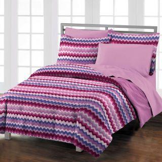 Chevron Teen Dorm Room Purple Comforter Bedding Set Twin TwinXL