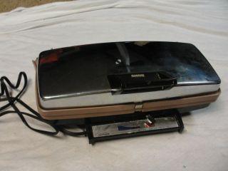 Vintage Sunbeam Chrome Electric Waffle Baker Grill Model TCGL 2