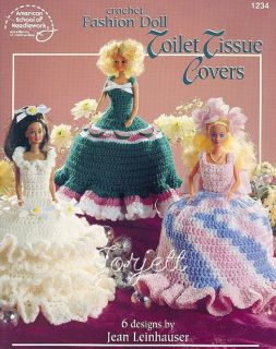 Fashion Doll Toilet Tissue Covers Crochet Patterns