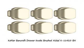 Kohler Bancroft 6 PK Cabinet Drawer Knobs Brushed Nickel Kitchen Bath