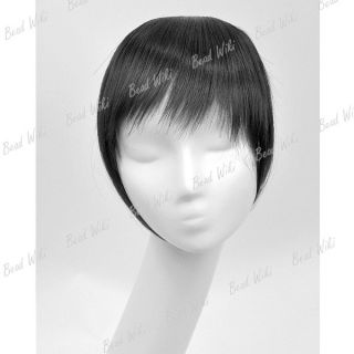 Clip in on Forehead Inclined Neat Trim Bang Fringe Hair Wigs Extension