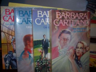 Lot of 4 Barbara Cartland Books in French