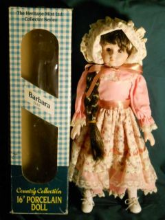 "BARBARA D 67 Country Collection 16"" Porcelain Doll Original Box"