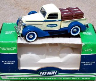 1996 SpecCast Agway 1936 Dodge Pickup Truck Bank with Bag Load #11