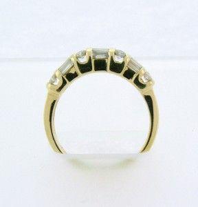 Beautiful Solid 14k Yellow Gold Diamond Ring Size 8