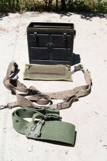 BC 1000 RARE original battery box COMPLETE of all canvas webbing belts