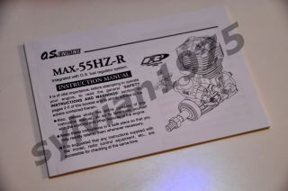 OS Max 55 Hz R Helicopter Engine 15650 55HZR 55Hz R