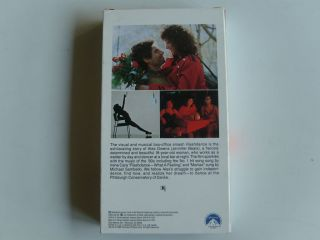 Flashdance VHS Movie Video Tape Jennifer Beals Irene Cara Music Mint