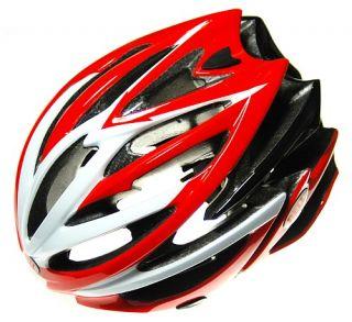 bell volt red white race bike helmet medium